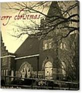 Christmas Chapel Canvas Print