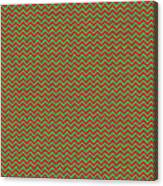 Christmas Colors Chevron Canvas Print