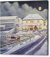 Christmas Corral Canvas Print