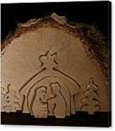 Christmas Crib. Nativity Scene Canvas Print
