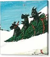 Christmas Day Scottie Style Canvas Print