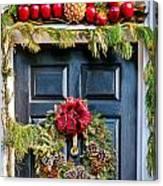 Christmas Door 8 Canvas Print