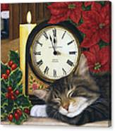 Christmas Eve Nap Canvas Print