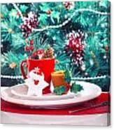 Christmas Eve Table Decoration Canvas Print