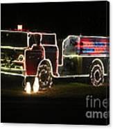Christmas Fire Truck 2 Canvas Print