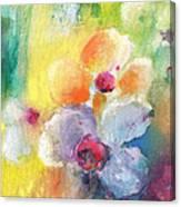 Christmas Flowers For Mom 01 Canvas Print