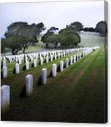 Christmas Fort Rosecrans National Cemetery  Canvas Print