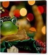 Christmas Frog Canvas Print