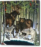 Christmas Gathering Canvas Print