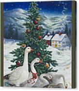 Christmas Geese Canvas Print