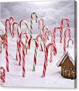 Christmas Ginger Bread Cottages In Candy Cane Forest Photograph By