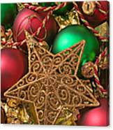 Christmas Gold Star Canvas Print