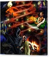 Christmas Greeting Card Canvas Print