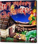 Christmas Greeting Card Iv Canvas Print