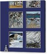 Christmas Greetings From The Coast Canvas Print