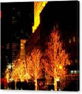 Christmas In New York - Trees And Star Canvas Print