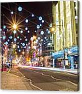 Christmas In Oxford Street Canvas Print