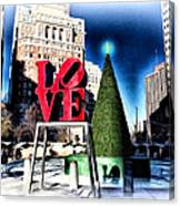 Christmas In Philadelphia Canvas Print