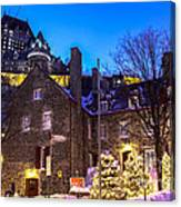 Christmas In Quebec Canvas Print