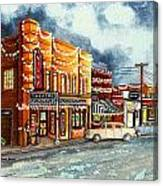 Christmas In Villa Rica 1950's Canvas Print