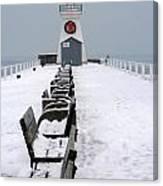 Christmas Lighthouse Canvas Print