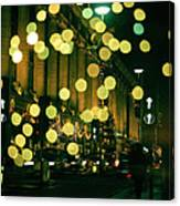 Christmas Lights In Oxford Streeet Canvas Print
