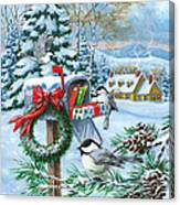 Christmas Mail Canvas Print