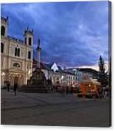 christmas market in Banska Bystrica Canvas Print