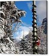 Christmas Morning At Redstone Canvas Print