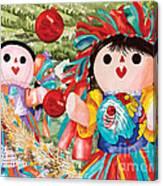 Christmas Munecas Canvas Print