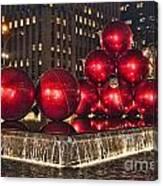 Christmas On 5th Avenue Manhattan 1 Canvas Print