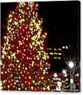 Christmas On Public Square Three Canvas Print
