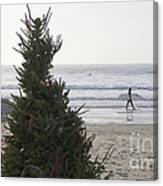 Christmas On The Beach 2 Canvas Print