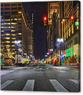 Christmas On Woodward Canvas Print