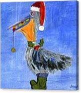 Christmas Pelican Canvas Print
