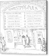 Christmas-plex Canvas Print