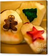 Christmas Potato Stamps Canvas Print