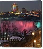 Christmas Spirit At Niagara Falls Canvas Print