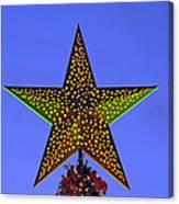 Christmas Star During Dusk Time Canvas Print
