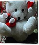 Christmas Teddy Bear Canvas Print