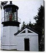 Christmas Time At Cape Meares Lighthouse Canvas Print