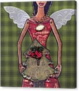 Christmas tree angel Canvas Print