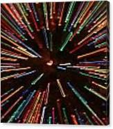 Christmas Tree At Warp Speed II Canvas Print