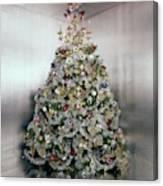 Christmas Tree Decorated By Gloria Vanderbilt Canvas Print