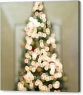Christmas Tree Defocused With Bokeh Lights Canvas Print