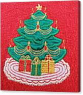 Christmas Tree Embroidered Canvas Print