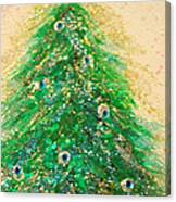Christmas Tree Gold By Jrr Canvas Print