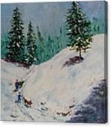 Christmas Tree Harvest Canvas Print