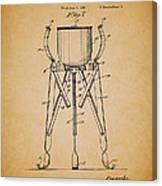 Christmas Tree Holder Patent 1927 Canvas Print