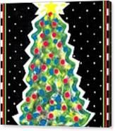 Christmas Tree Polkadots Canvas Print